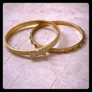 Kate Spade Take a Bow & gold studded bracelets